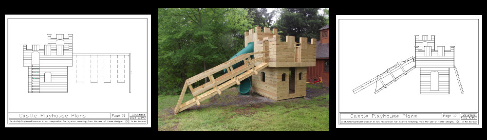 backyard castle playhouse plans
